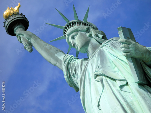 Fotobehang Historisch mon. Statue of Liberty in New York City.