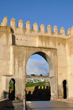 Medieval city gate Bab el Mahrouk in Fes, Morocco poster