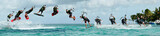Figure de kitesurf décomposée : le downloop to blind