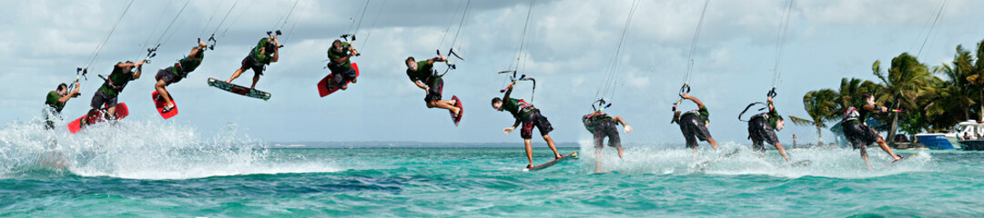 Figure de kitesurf décomposée : le downloop to blind