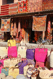 Moroccan Carpets and bags for sale in Marrakech poster
