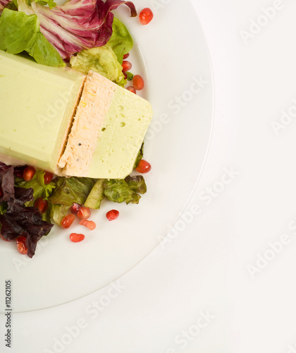Salmon and avocado terrine