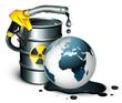 Concept planète terre polluée / ressources limitées