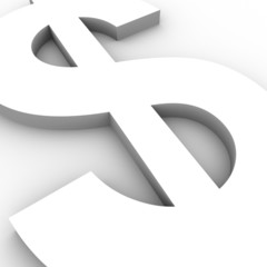 Conceptual dollar sign