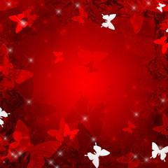 赤い蝶の背景