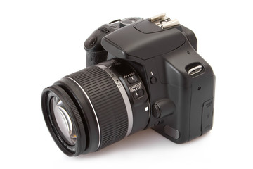 Digital slr isolated on a white background..