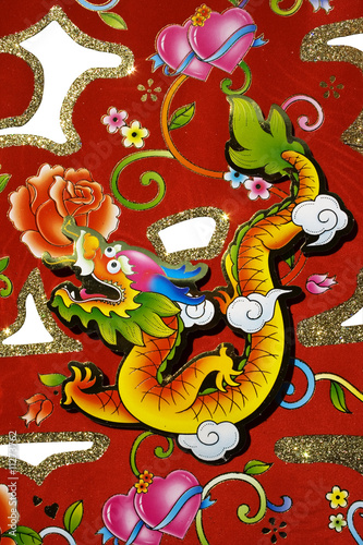 Chinese decorations for Chinese New Year Poster