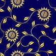 Seamless sunflower sari pattern