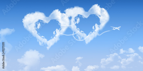 duo coeurs nuages