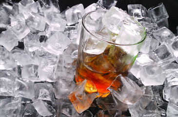 ice and whiskey