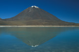 Snow Capped Volcano on the Bolivian Altiplano. poster