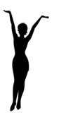 Silhouette of the harmonous woman poster