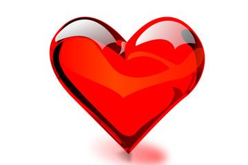 Heart shaped & transparent