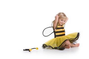 Cute Girl In Bumble Bee Costume