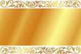 Gentle golden background poster