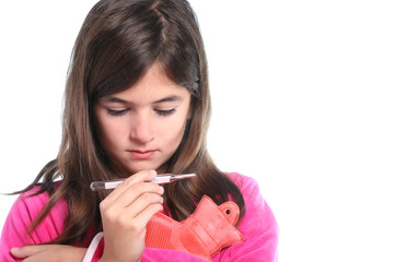 bambina con termometro - influenza
