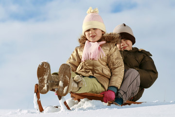 sled & children