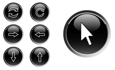 Set of web icons (buttons) - vector