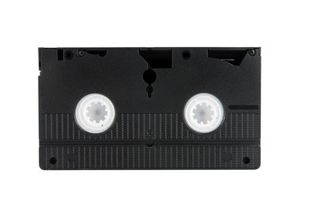 Videocassette, isolated, retro-styled.