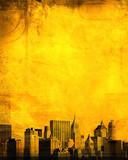 Fototapety grunge image of new york skyline