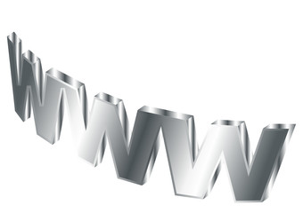 Stylized world wide web over white background
