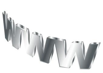 Stylized world wide web over white background