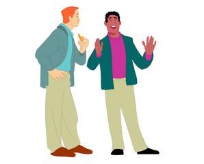 vector cartoon conversation 03