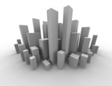 abstract 3d image of a metropolis poster