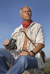 Mature man explorer looking for adventure
