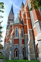 Back view of Herz Jesu Kirche - Graz