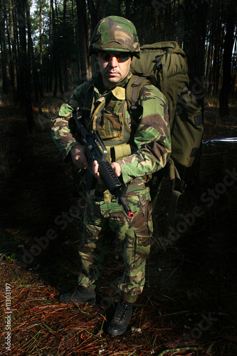 military posing for photography