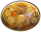Aspic from a pike perch with a lemon, carrots and egg