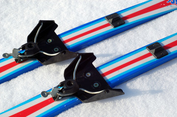 Classical ski binding system 75 mm