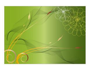 Hintergrund grün floral