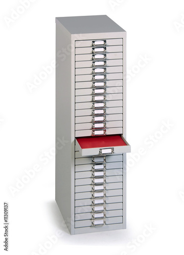 Meuble de rangement tiroirs de bureau photo libre de for Meuble de bureau rangement