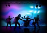 Fototapety Rock Band Performance