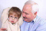 Grandfather and Grandson together poster