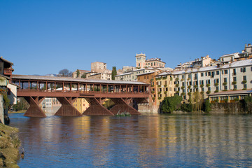 Alpines Bridge of Bassano del Grappa (Italy)