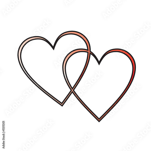Intertwined Hearts intertwined hearts Vector two