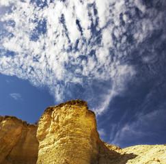 Stone desert near to canyon En-Avdat