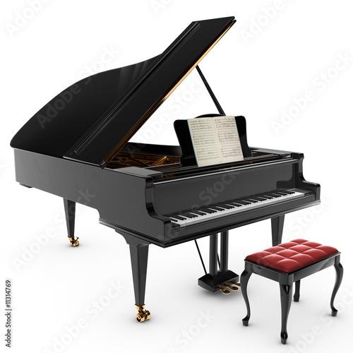 Leinwanddruck Bild Grand Pianio