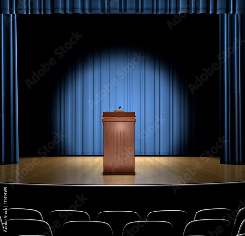 Podium On Stage