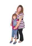 mom and daughter full length poster