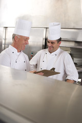 Chefs in commercial kitchen