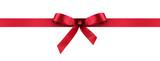 Fototapety rotes Geschenkband - Geschenkschleife