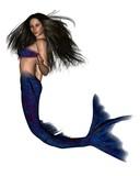 Dark Haired Mermaid - 1 poster