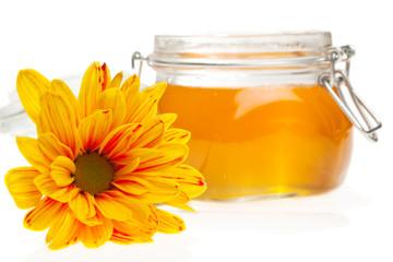 Flower and honey jar