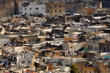 Aerial view over the medina of Fes, Morocco poster