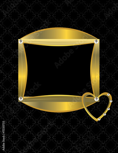 Gold heart patterned background 8