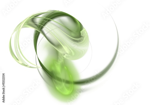 Foto op Aluminium Fractal waves Fractal image of an abstract futuristic shape for a background.